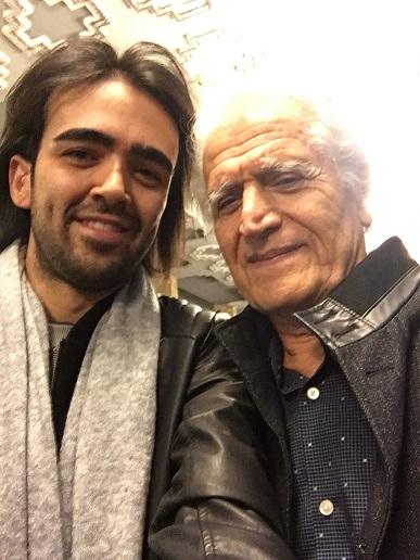 With Ahmad Pejman