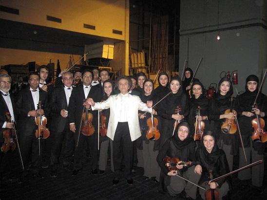 With Tehran Symphony Orchestra Shahrdad Rohani